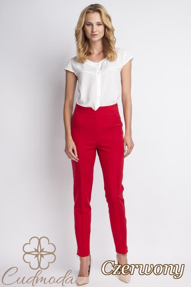 CM2776 Klasyczne spodnie biurowe - czerwone