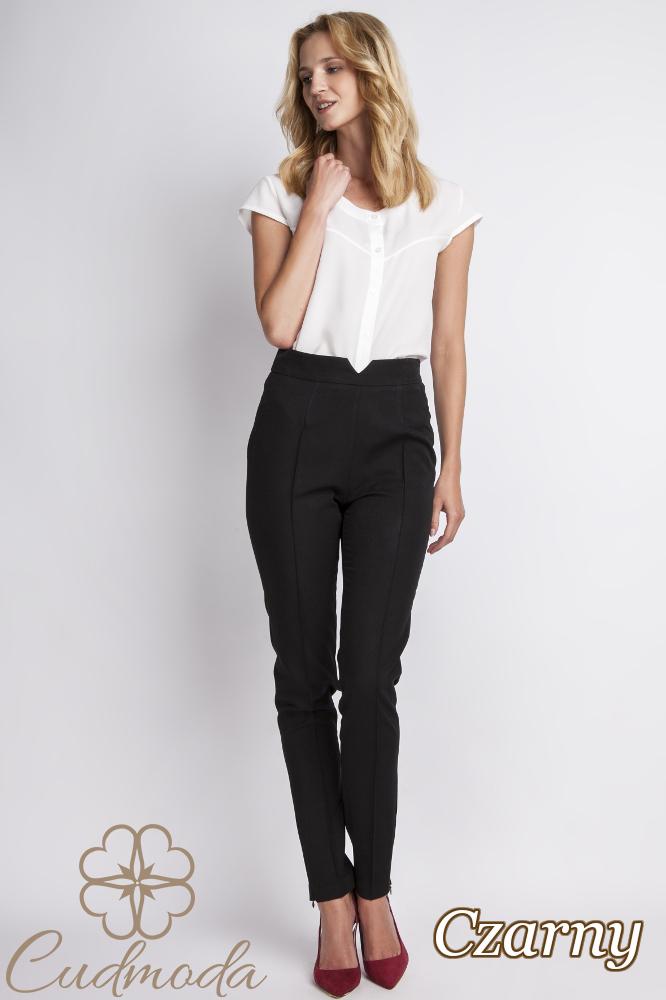CM2776 Klasyczne spodnie biurowe - czarne