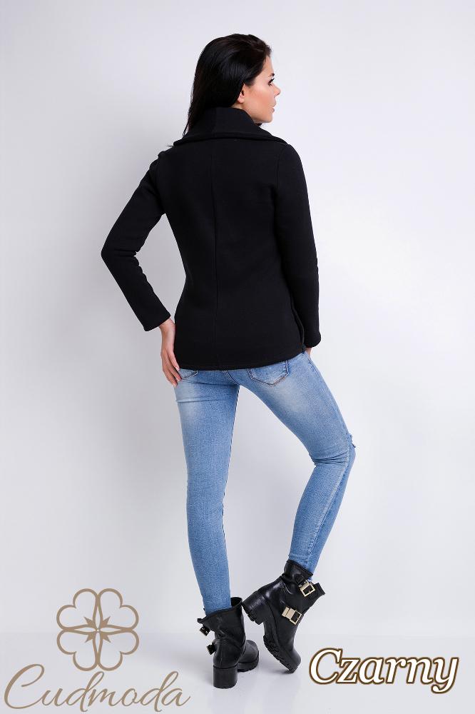 CM2826 Stylowy dresowy żakiet damski - czarny