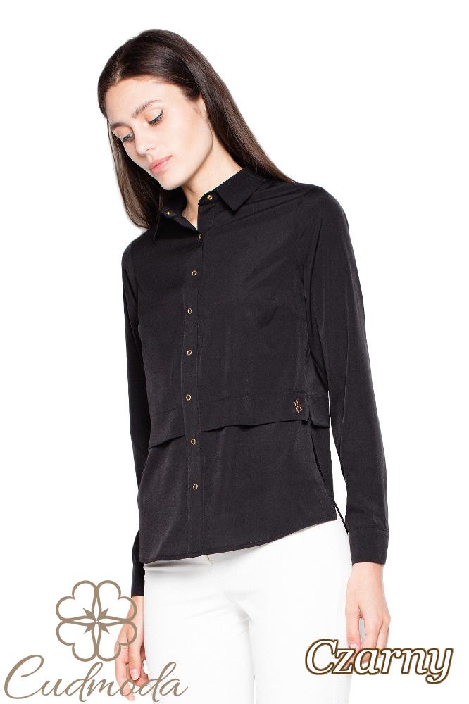 CM2937 Kobieca koszula z długim rękawem - czarna