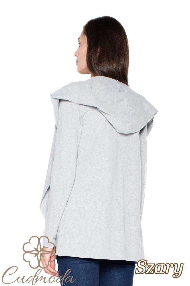 CM2945 Wygodna bawełniana bluza damska - szara