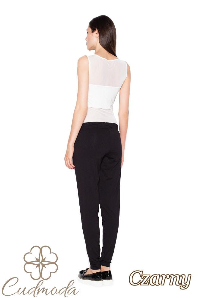 CM2954 Spodnie damskie z kieszeniami - czarne