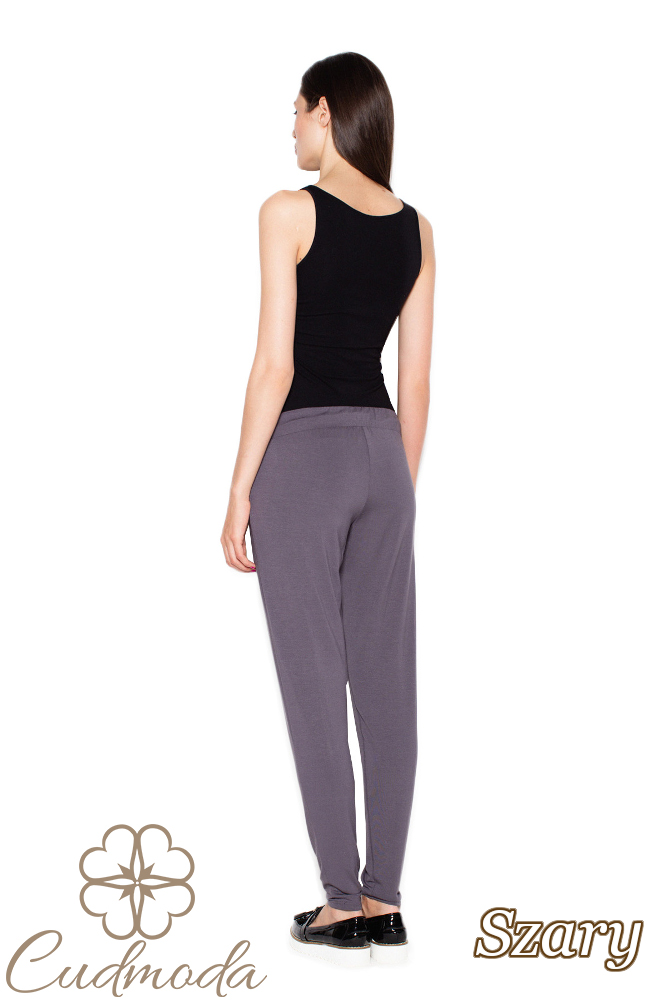 CM2954 Spodnie damskie z kieszeniami - szare
