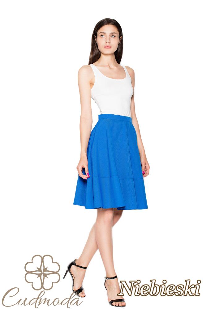 CM2958 Kobieca odcinana spódniczka - niebieska