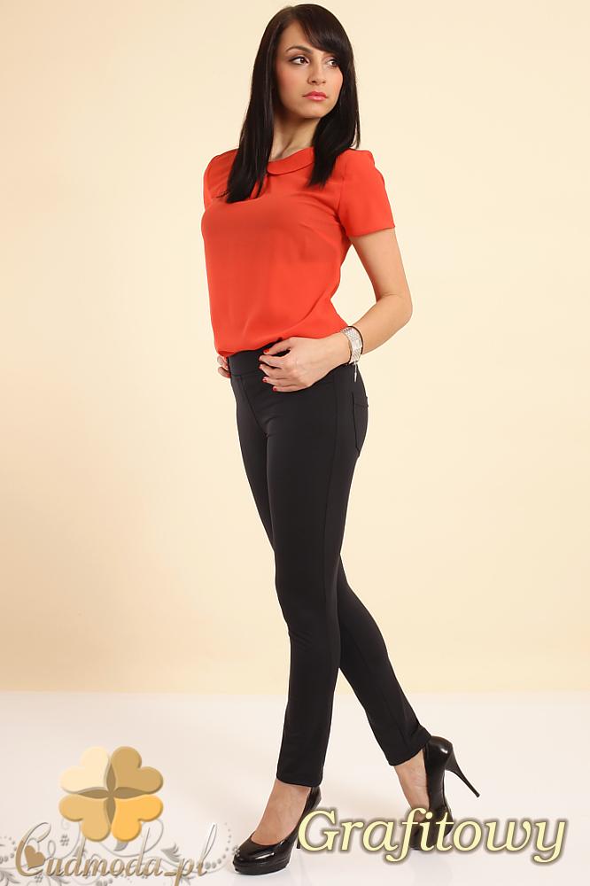 CM0215 Włoskie elastyczne legginsy spodnie NILIT® SOFTEX - grafitowy