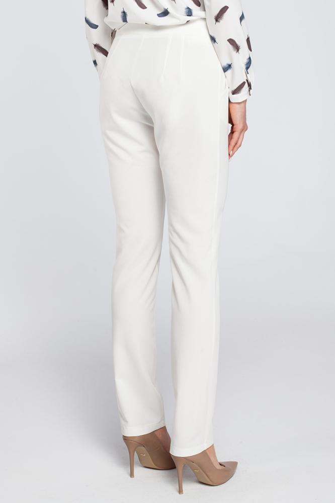 CM2927 Eleganckie spodnie cygaretki - ecru