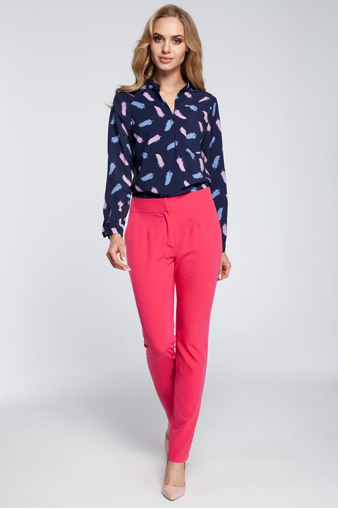 CM2927 Eleganckie spodnie cygaretki - różowe OUTLET