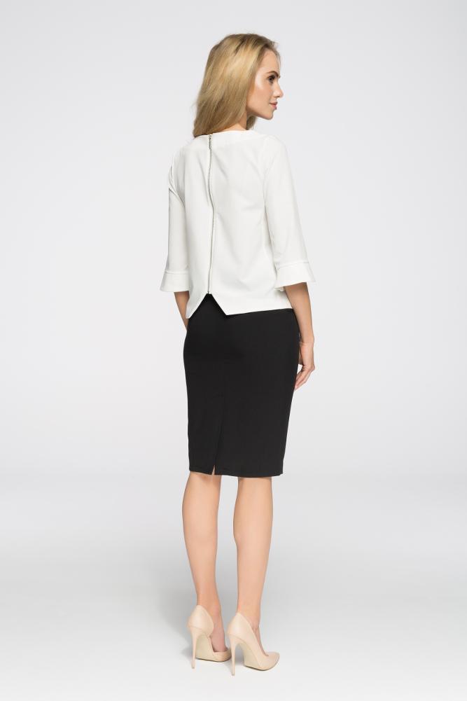 CM2657 Elegancka spódniczka biurowa - czarna