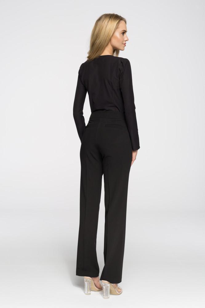 CM2664 Gładkie spodnie biurowe - czarne