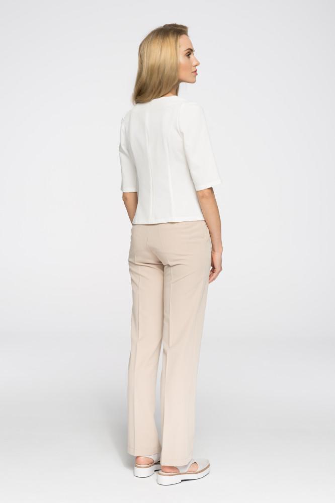 CM2664 Gładkie spodnie biurowe - beżowe