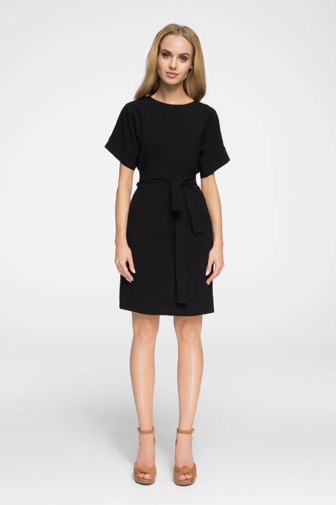 CM2674 Elegancka sukienka wyjściowa - czarna