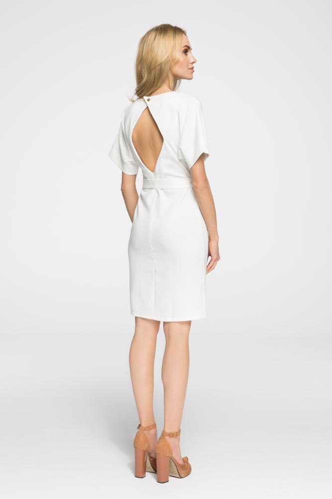 CM2674 Elegancka sukienka wyjściowa - ecru