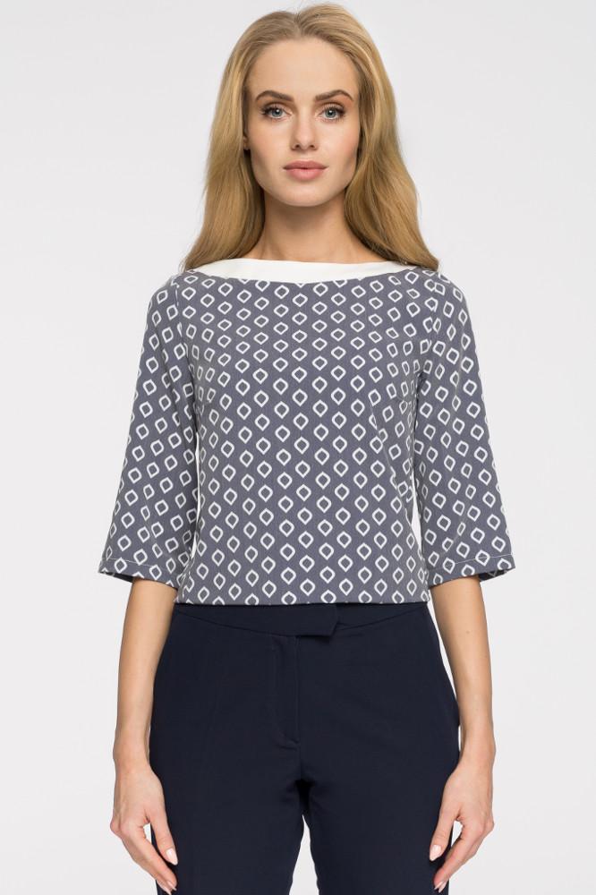 CM2677 Klasyczna bluzka damska we wzory - model 2