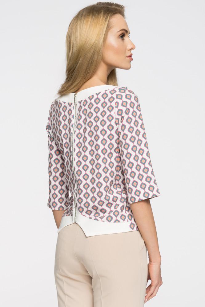 CM2677 Klasyczna bluzka damska we wzory - model 3