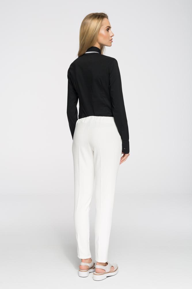 CM2692 Klasyczne proste spodnie damskie - ecru