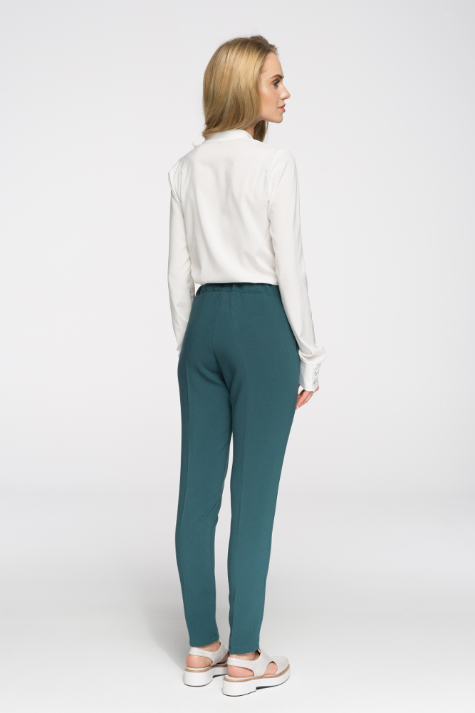 CM2692 Klasyczne proste spodnie damskie - zielone