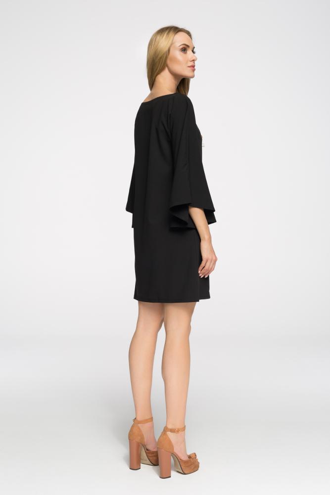 CM2693 Sukienka nietoperz oversize - czarna