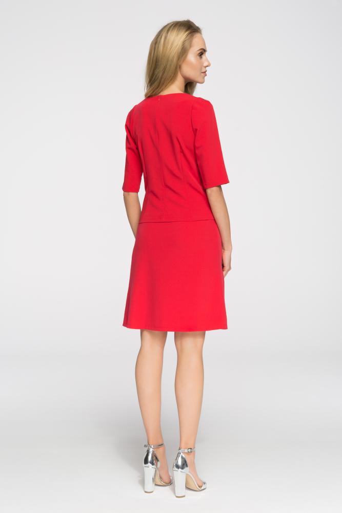 CM2705 Klasyczna gładka spódniczka mini - czerwona