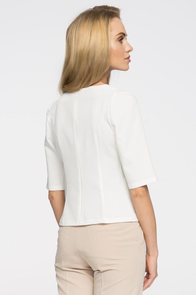 CM2706 Elegancka gładka bluzka - ecru
