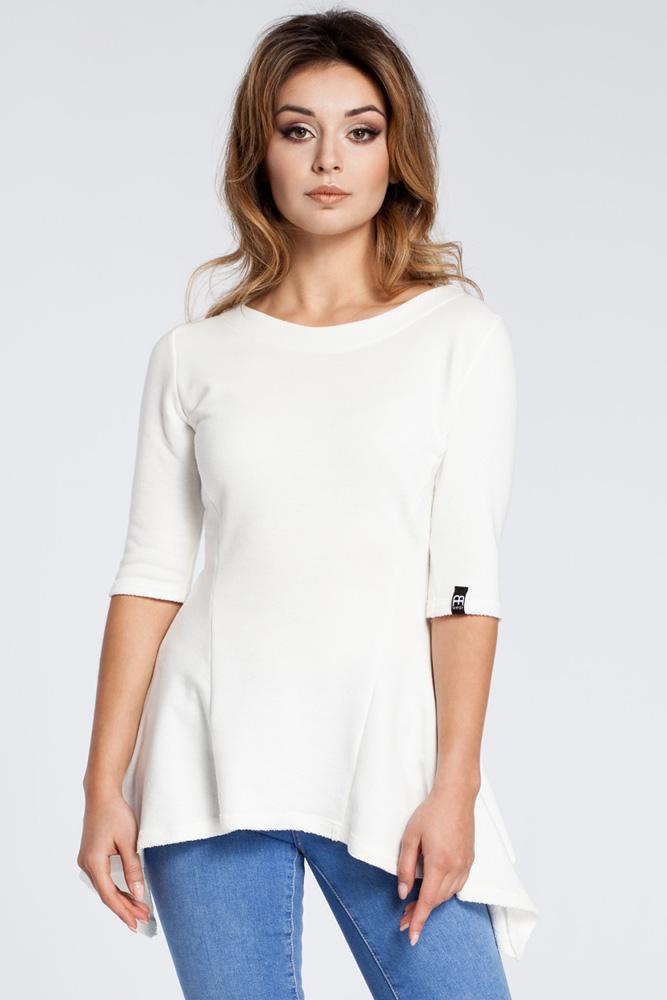 CM3038 Kobieca bluzka baskinka - ecru OUTLET