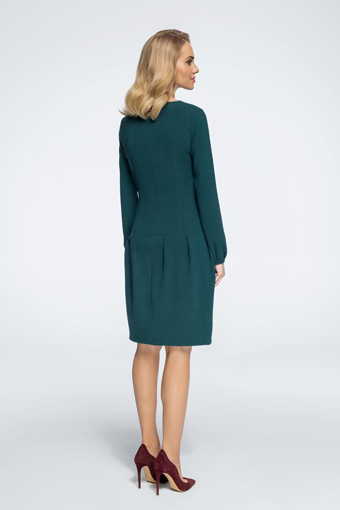 CM3056 Sukienka mini z obniżoną linią talii - zielona