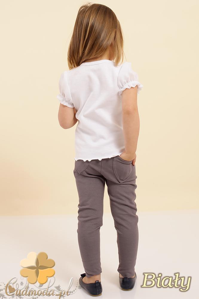 MA013 Urocza dziecięca bluzka bufki szyfon - biała