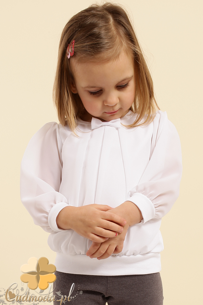 MA014 Dziecięca bluzka tunika szyfon kokardka