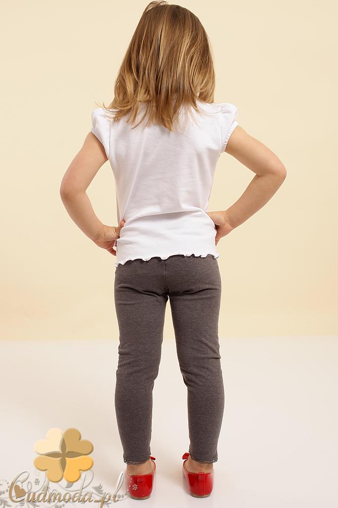MA015 Dziewczęca bluzeczka z ozdobną koronką - biała