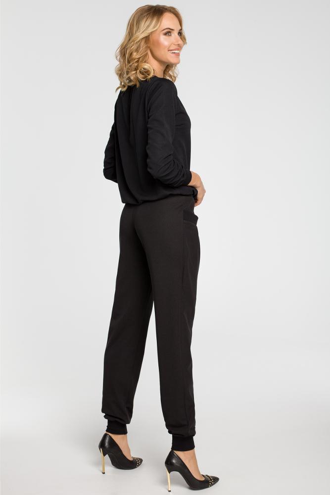 CM3111 Marszczone spodnie pumpy - czarne