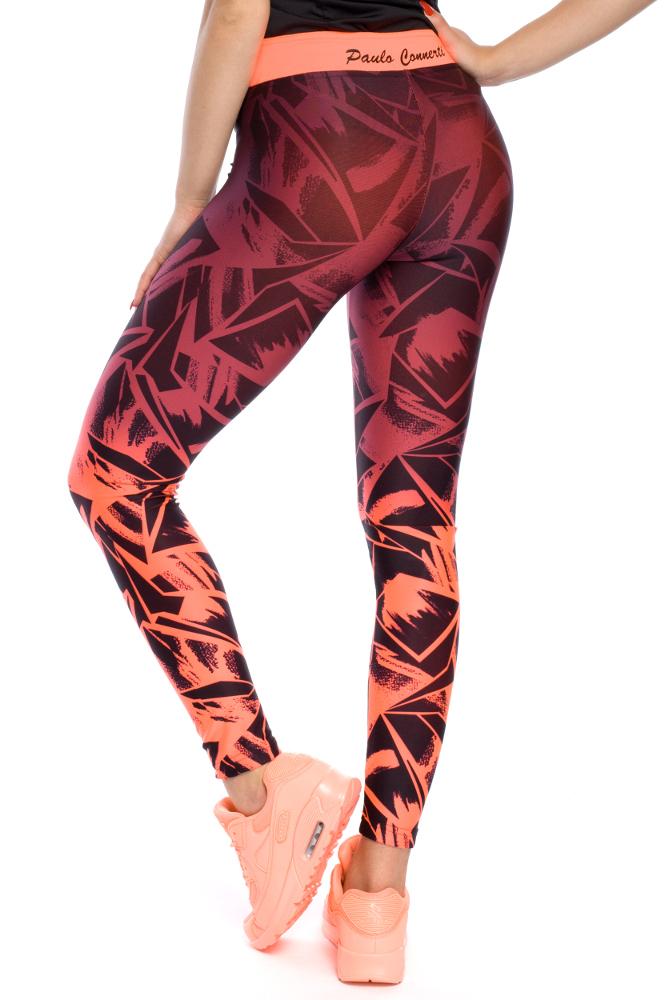 CM3122 Nowoczesne legginsy o geometrycznym wzorze