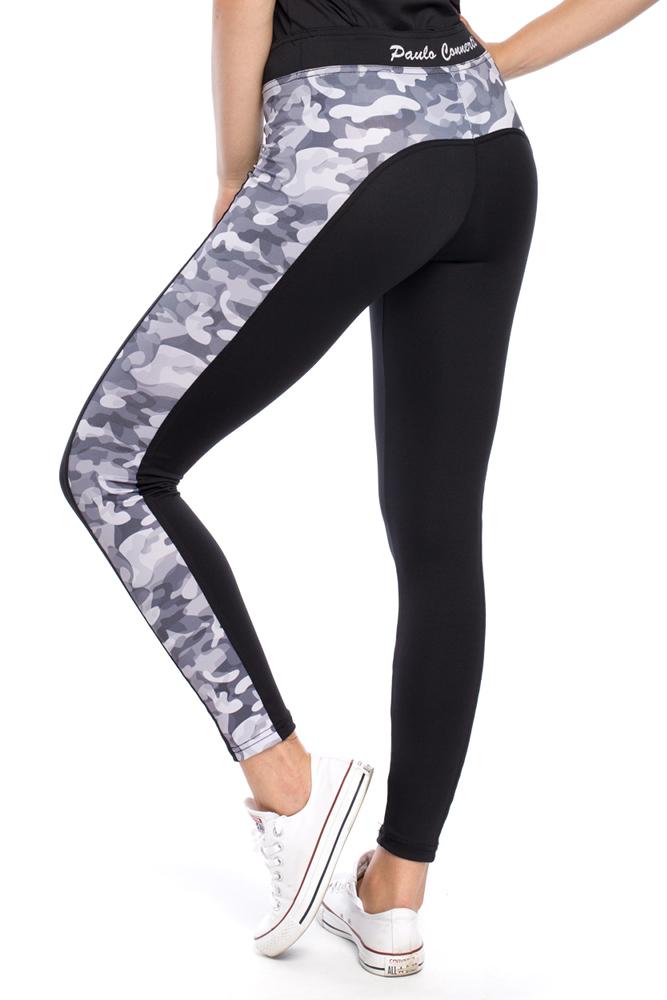 CM3123 Gładkie legginsy we wzory