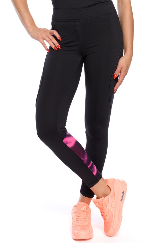 CM3129 Elastyczne legginsy ze wstawką na łydce