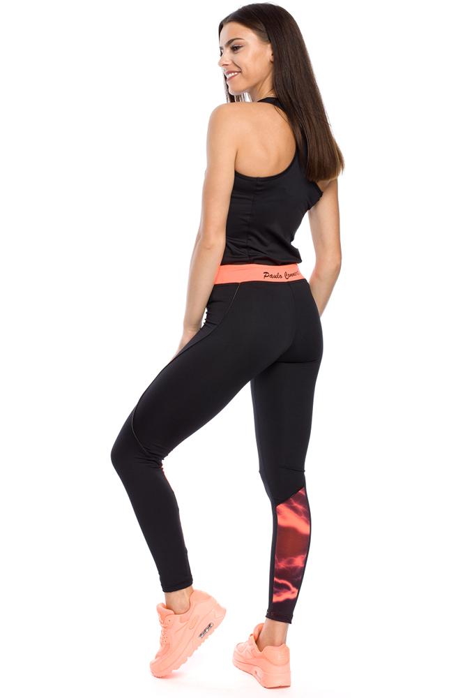 CM3130 Kobiece legginsy z nowoczesną wstawką na łydce