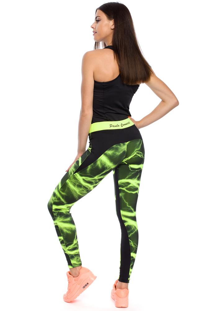 CM3134 Kobiece legginsy o unikalnym wyglądzie