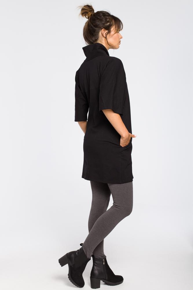 CM3181 Nowoczesna tunika kimono - czarna