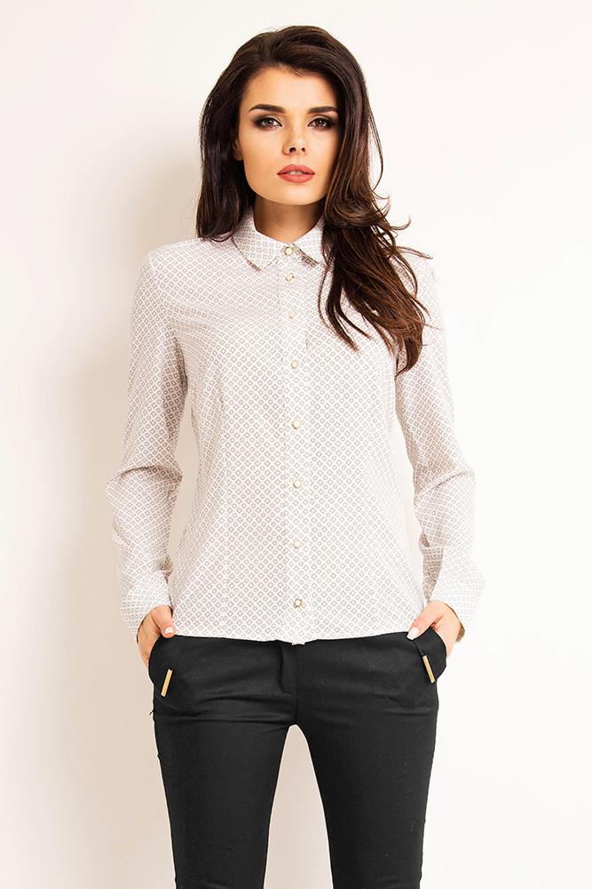 CM3202 Dopasowana koszula damska - wzór
