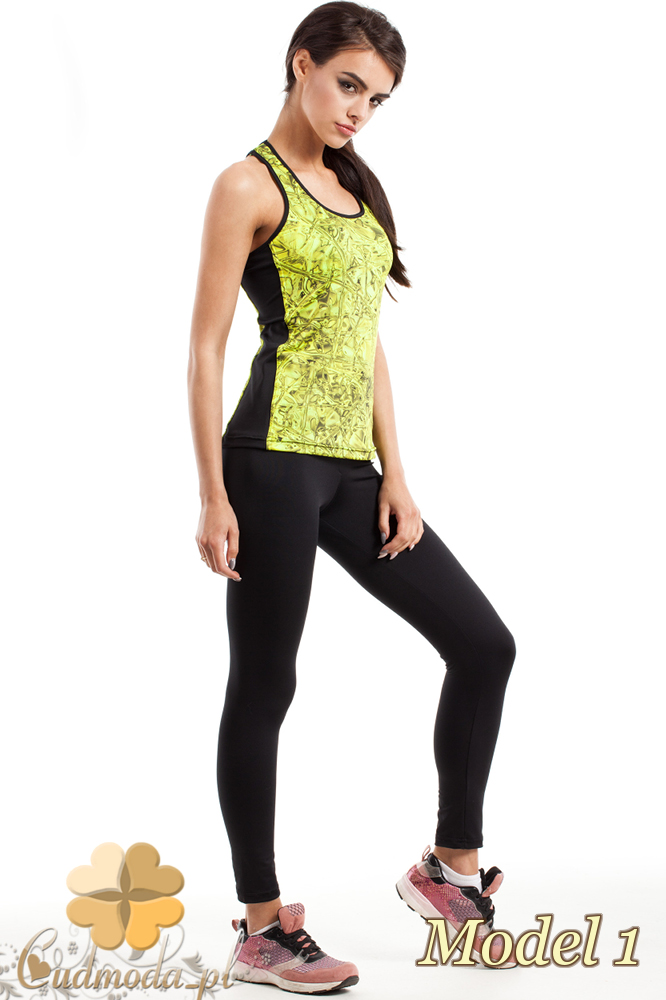 CM2278 Sportowy top damski na fitness - model 1