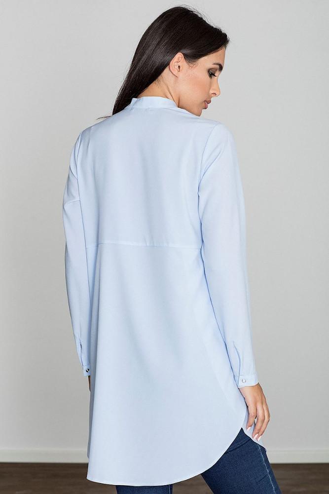 CM3230 Kobieca sukienka o kroju tuniki - niebieska