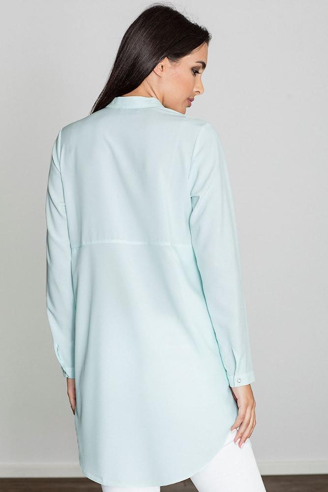 CM3230 Kobieca sukienka o kroju tuniki - miętowa