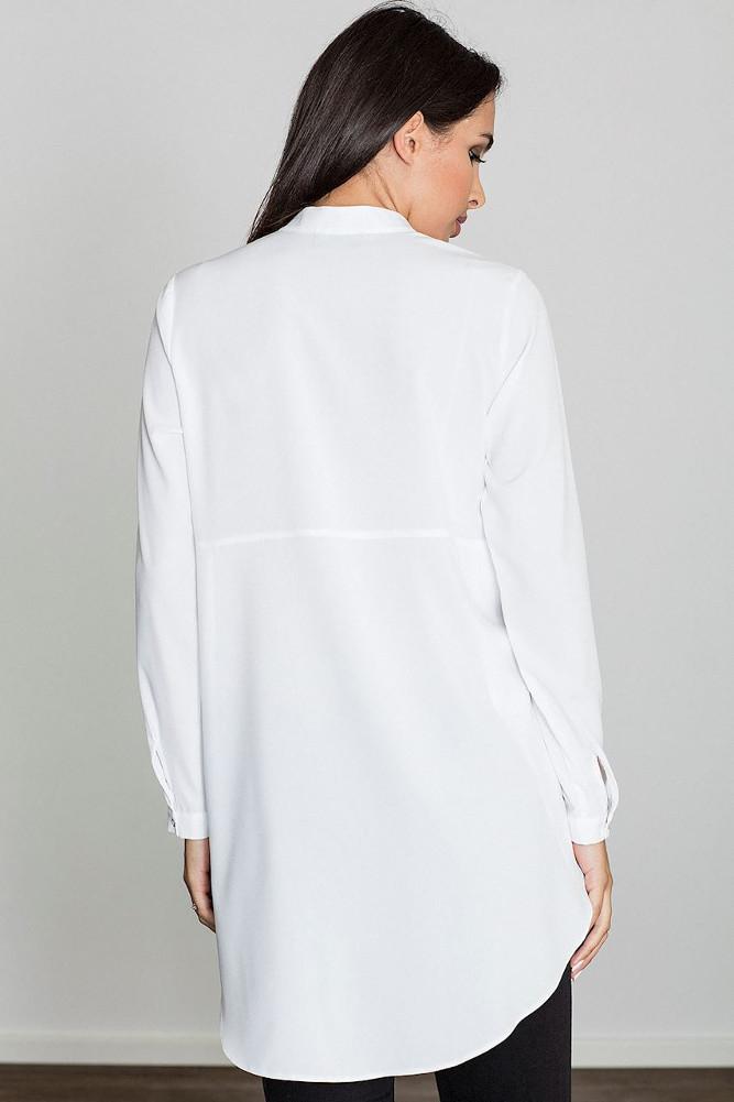 CM3230 Kobieca sukienka o kroju tuniki - biała