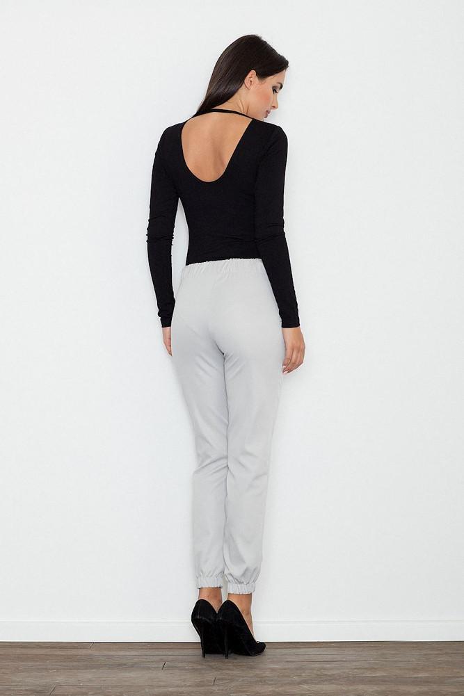 CM3239 Eleganckie kobiece spodnie wizytowe - szare