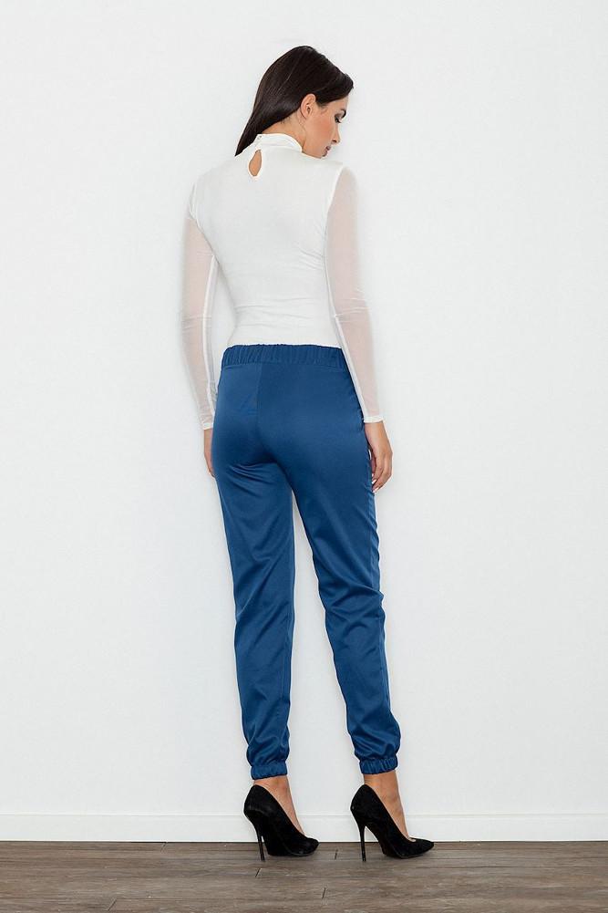 CM3239 Eleganckie kobiece spodnie wizytowe - niebieskie