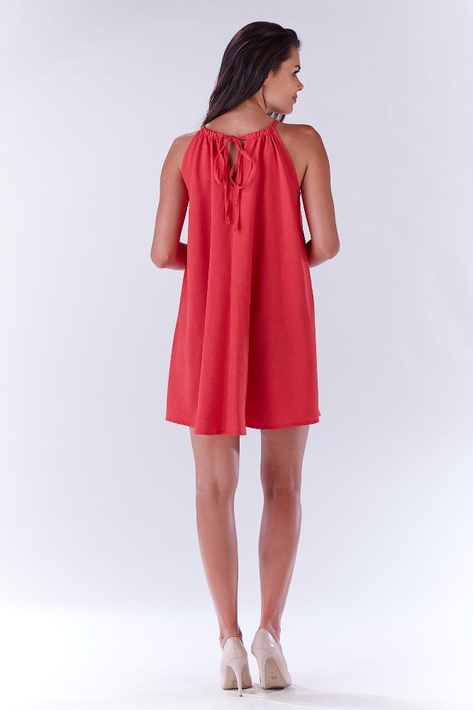 CM3277 Krótka sukienka na ramiączkach - fuksja