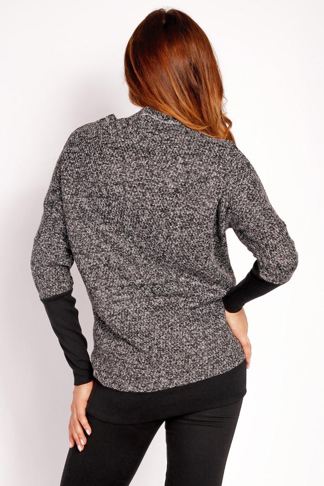 CM3298 Damski sweter kimono - grafitowy