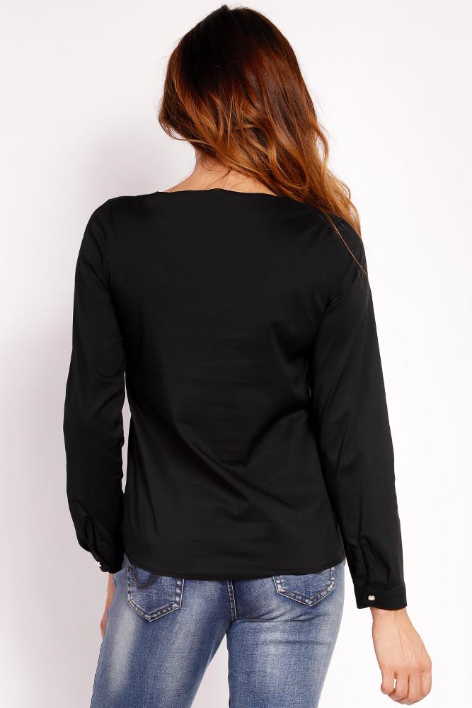 CM3323 Biurowa bluzka koszulowa - czarna