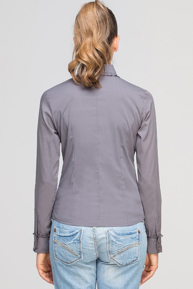 CM3347 Klasyczna koszula z okrągłym kołnierzykiem - szara