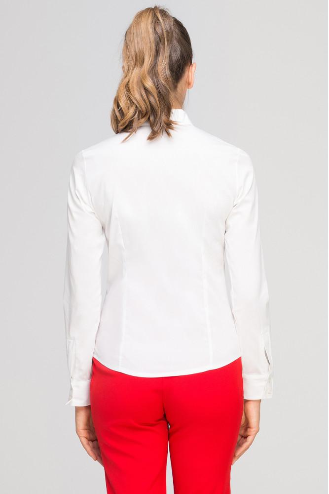 CM3348 Damska koszula z długim rękawem - ecru