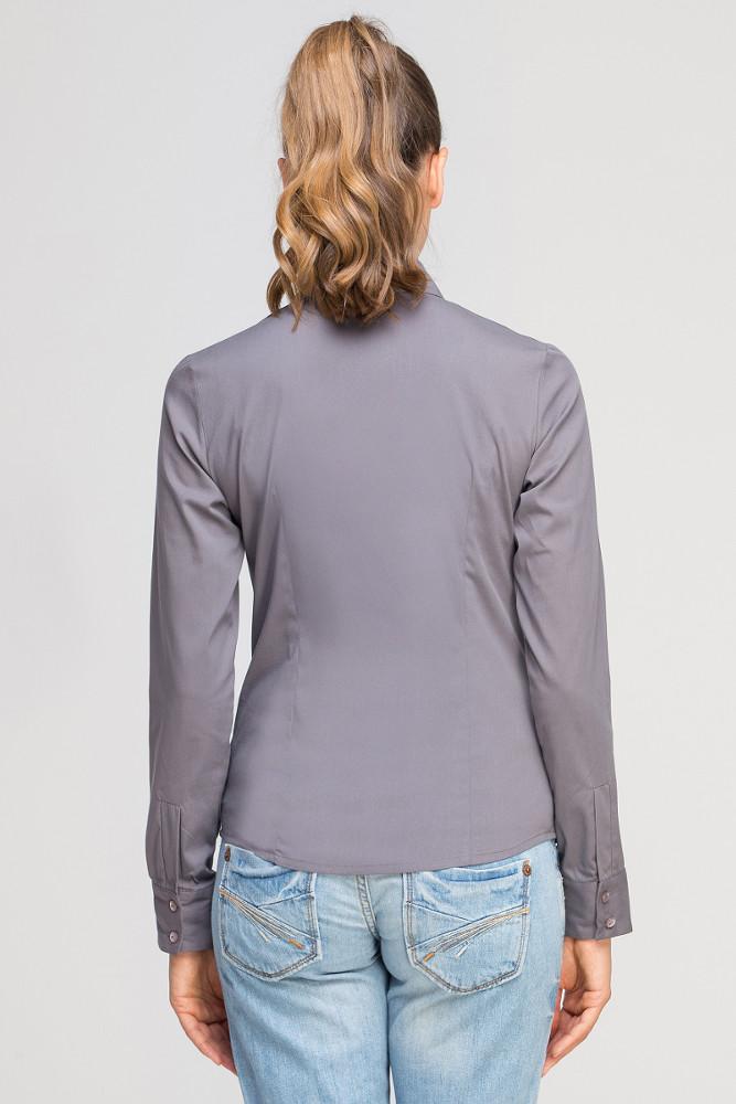 CM3348 Damska koszula z długim rękawem - szara