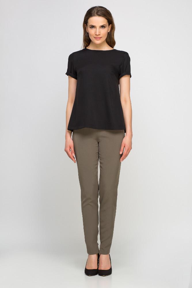 CM3352 Eleganckie spodnie z szarfą - khaki