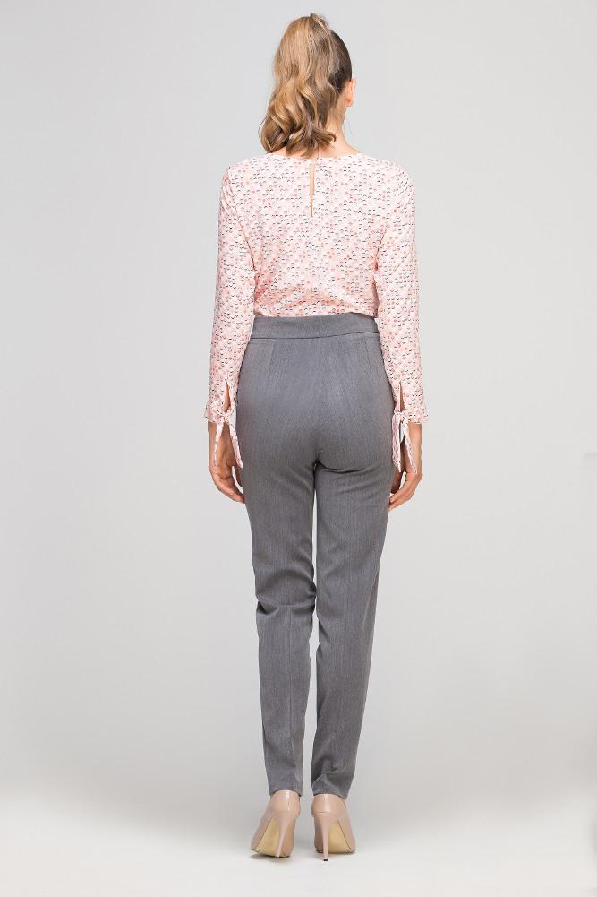 CM3353 Eleganckie spodnie w kant - grafitowe